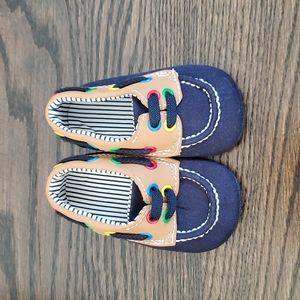 Navy Baby Slippers Size 1-2